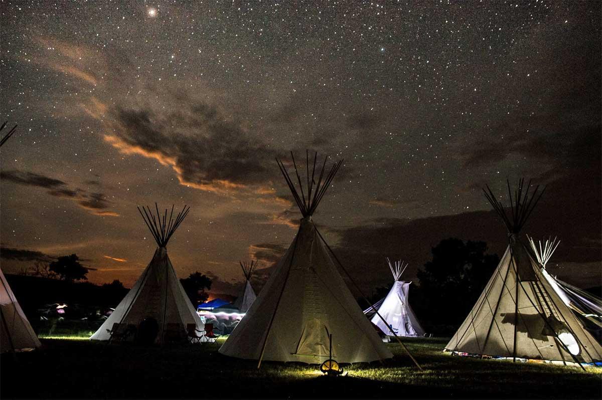 Tende accampamento lakota